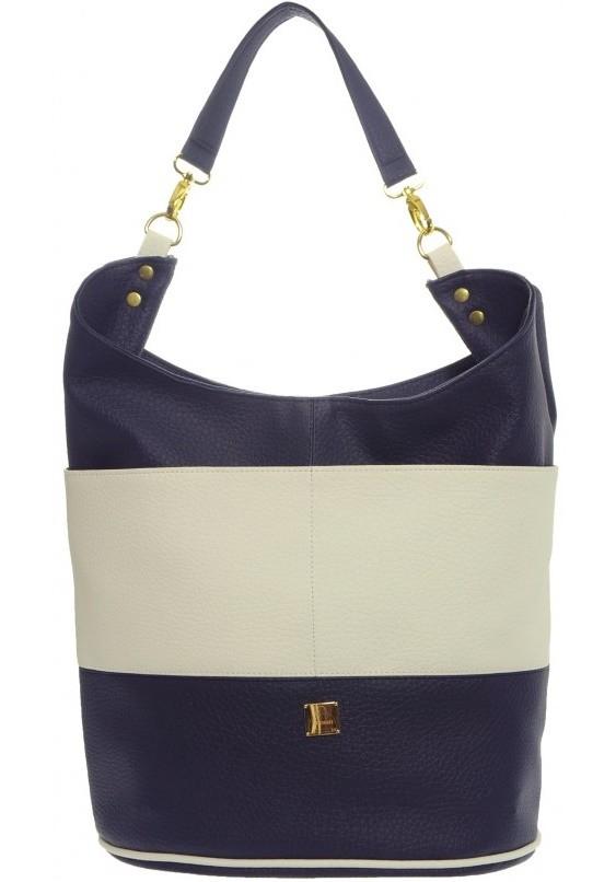 Modro bílá kabelka na rameno Eleonora