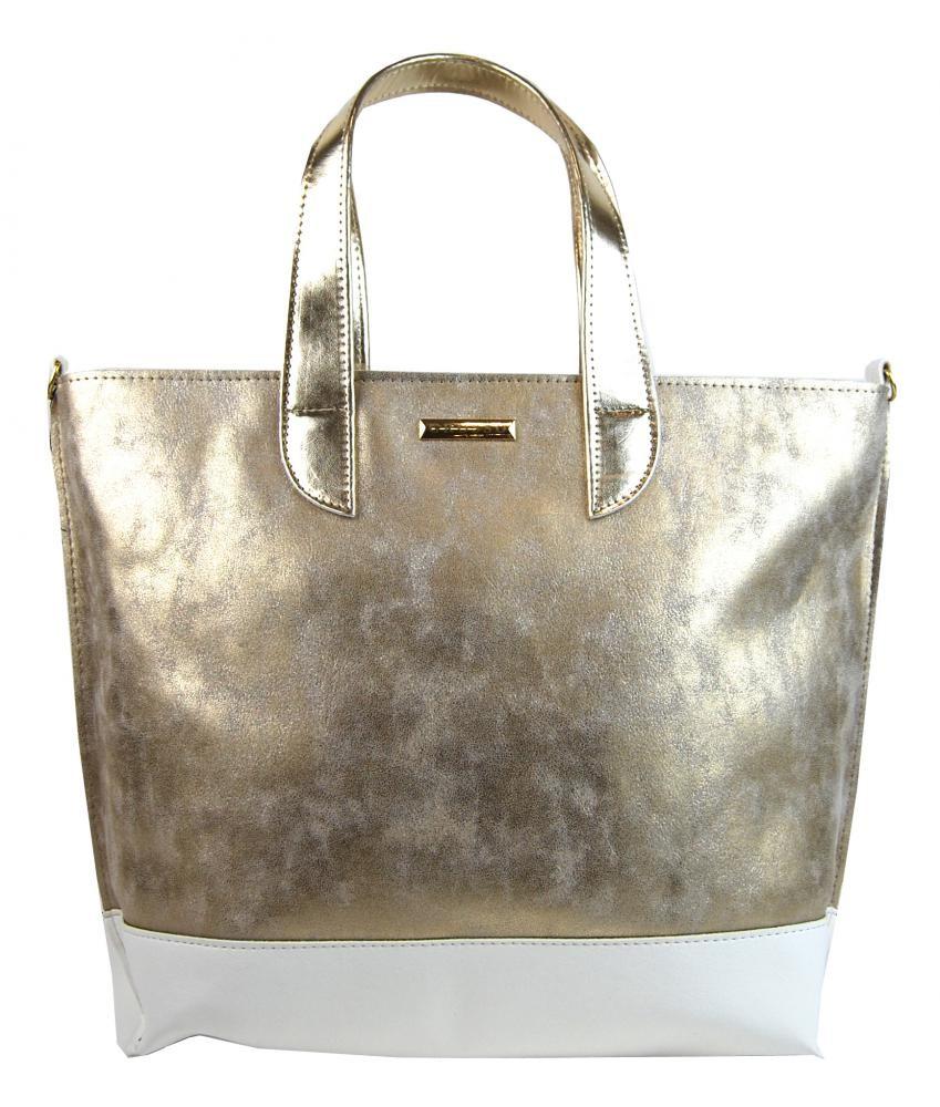 Zlato bílá kabelka Claudia