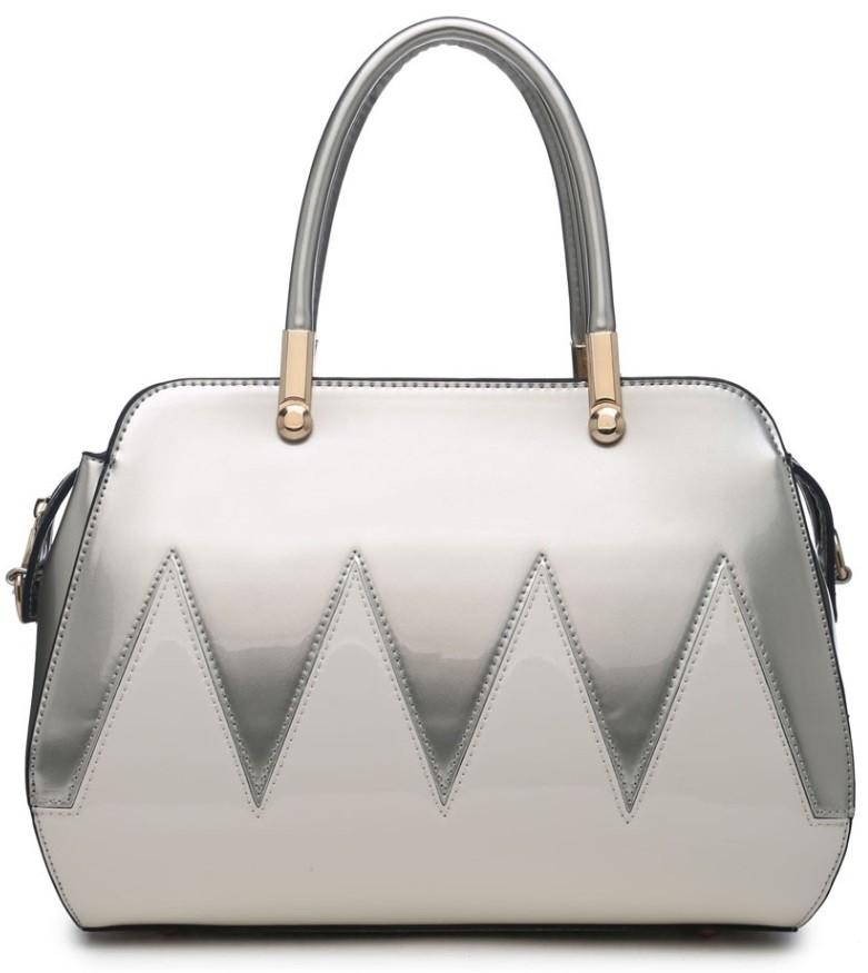 Stříbrno bílá kabelka do ruky Lylou
