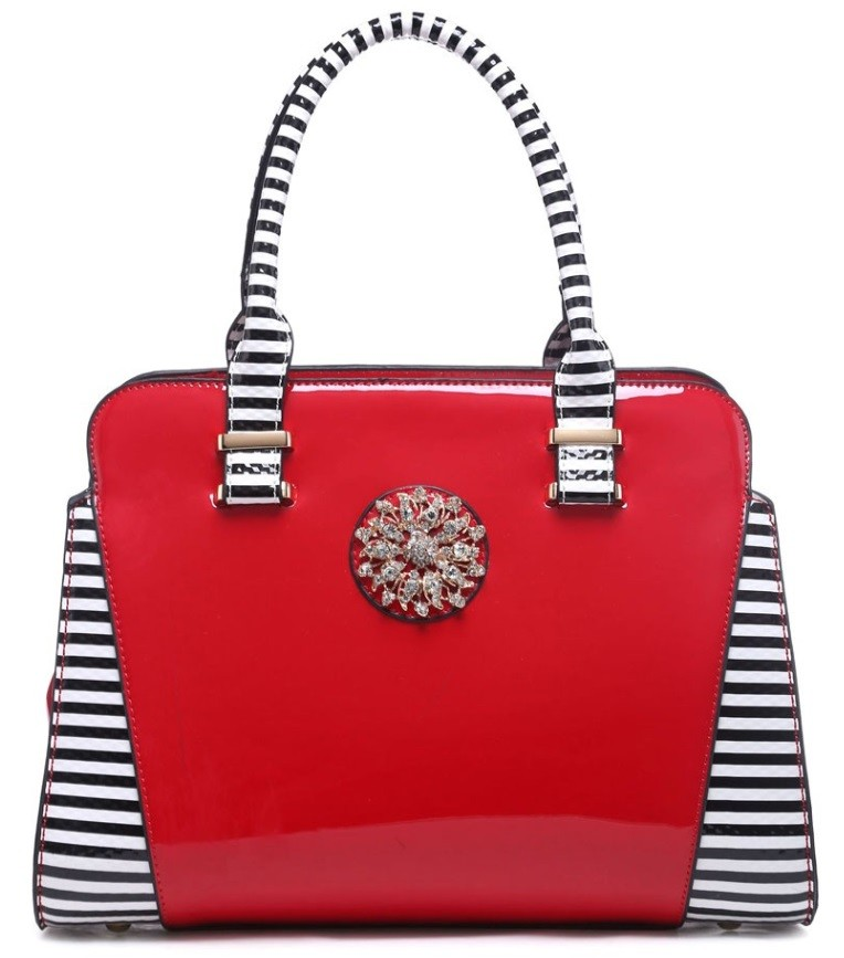 Červená kabelka do ruky Anae