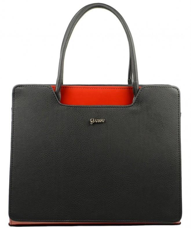 Černo červená kabelka Lena