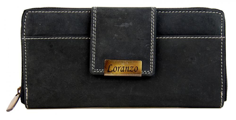Černá dámská kožená peněženka Alessia