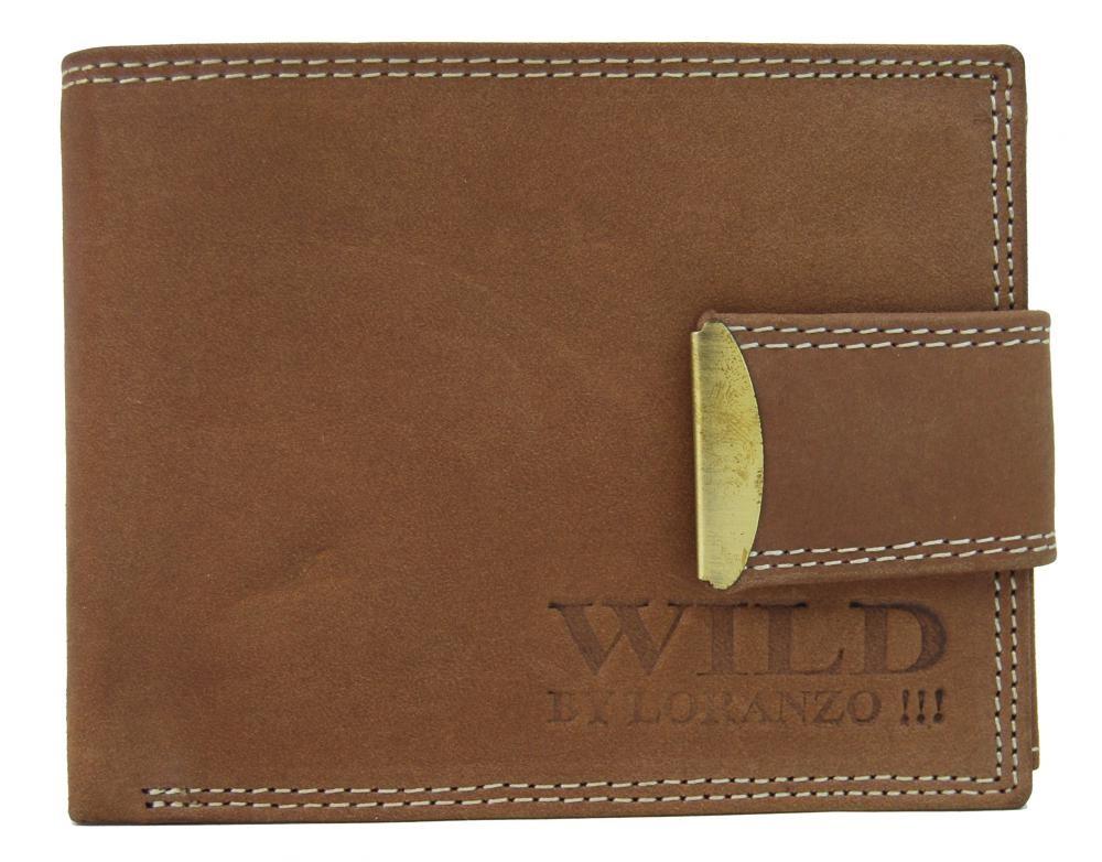Hnědá pánská kožená peněženka Samuele