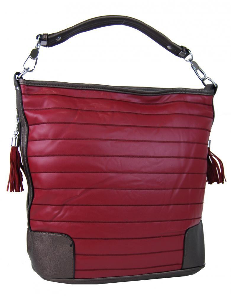 Červená kabelka Botein