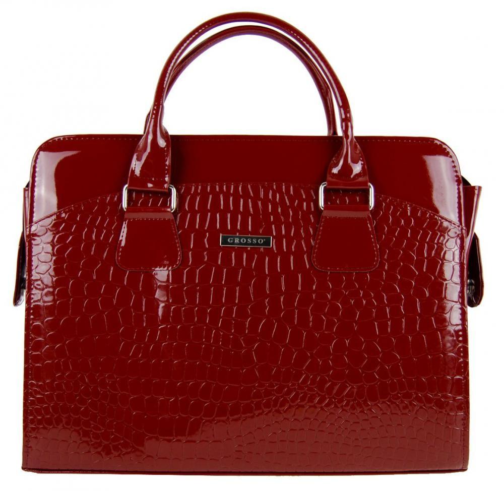 Červená dámská luxusní taška na notebook Kajam