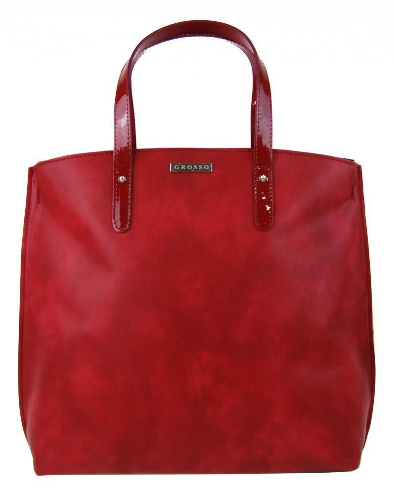 Červená matná kabelka v anglickém stylu Ksora