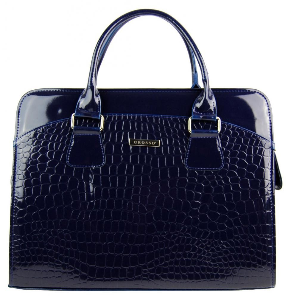 Dámská modrá elegantní taška na notebook Merga