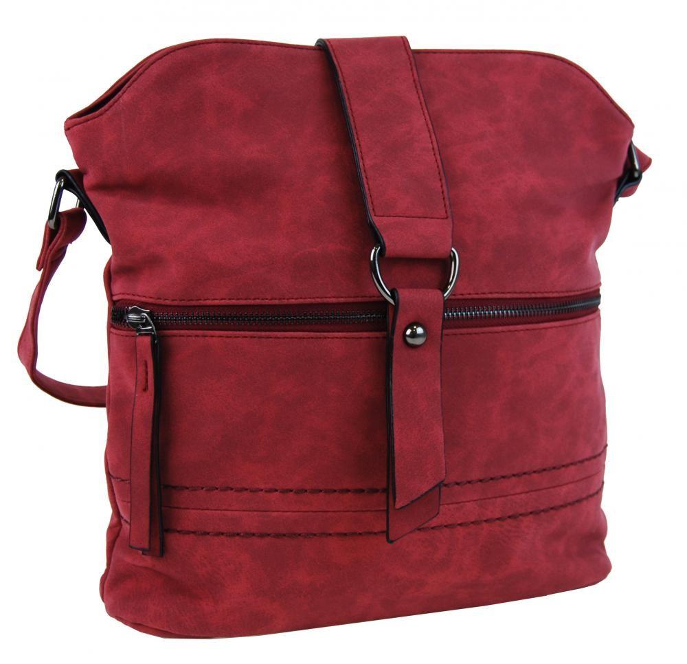 Červená crossbody kabelka Contaile