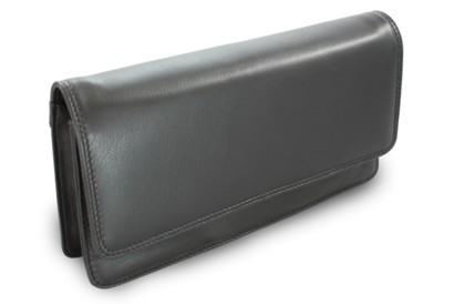 Černé kožené dámské psaníčko Lunaries