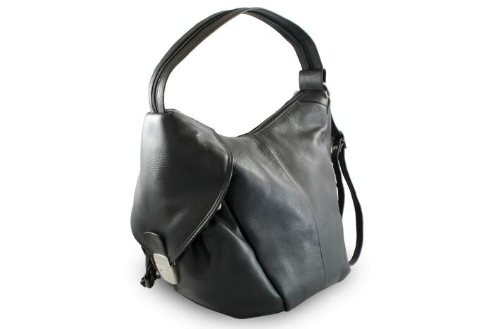 Černý kožený batoh a kabelka Khalesi