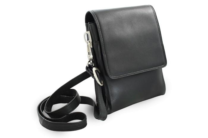 Černý malý kožený pánský crossbag Giselle