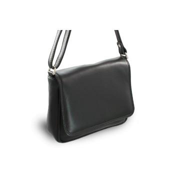 Černá kožená klopnová kabelka Allien d2ef24aff47