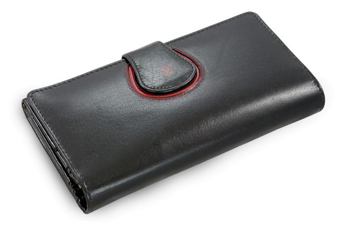 Černá dámská kožená rámová peněženka Lilah