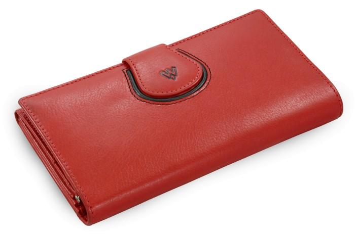 Červená dámská kožená rámová peněženka Madilyn