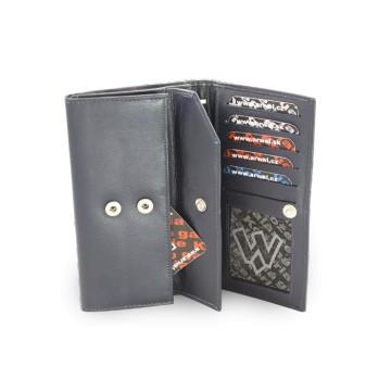Modrá dámská kožená psaníčková peněženka Adelaide 64af0597e25