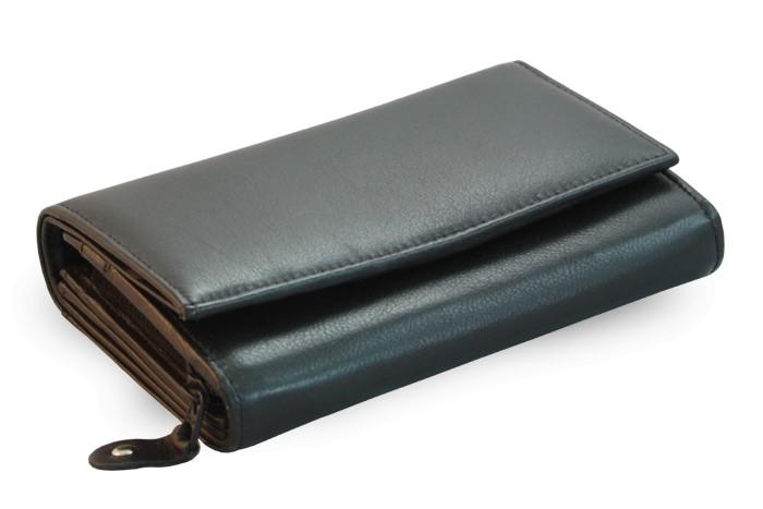 Černá dámská kožená peněženka Chloen