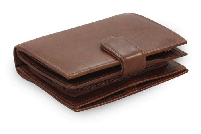 Tmavě hnědá dámská kožená peněženka Kendall