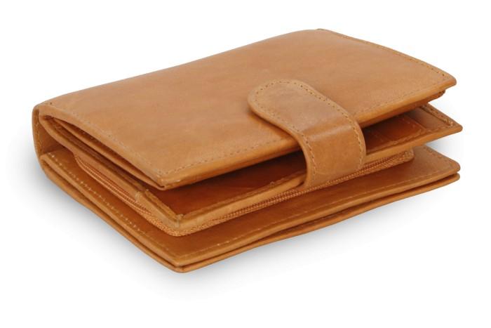 Světle hnědá dámská kožená peněženka Kendall