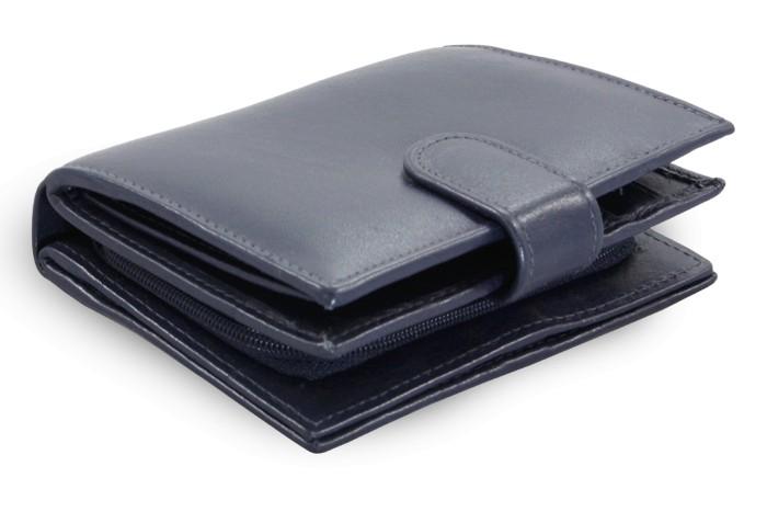 Tmavě modrá dámská kožená peněženka Kendall
