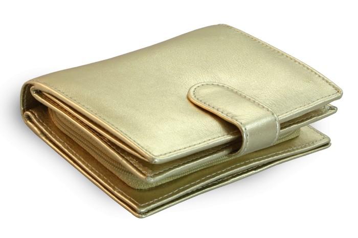 Zlatá dámská kožená peněženka Kendall