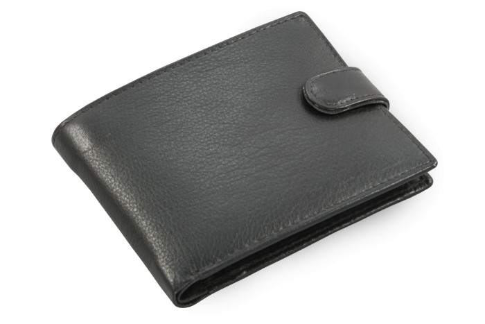 Černá pánská kožená peněženka Collin
