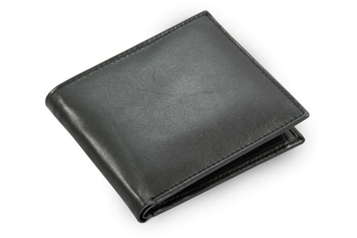 Černá pánská kožená peněženka Adodine