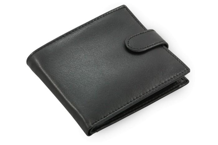 Černá pánská kožená peněženka Kaitlyen
