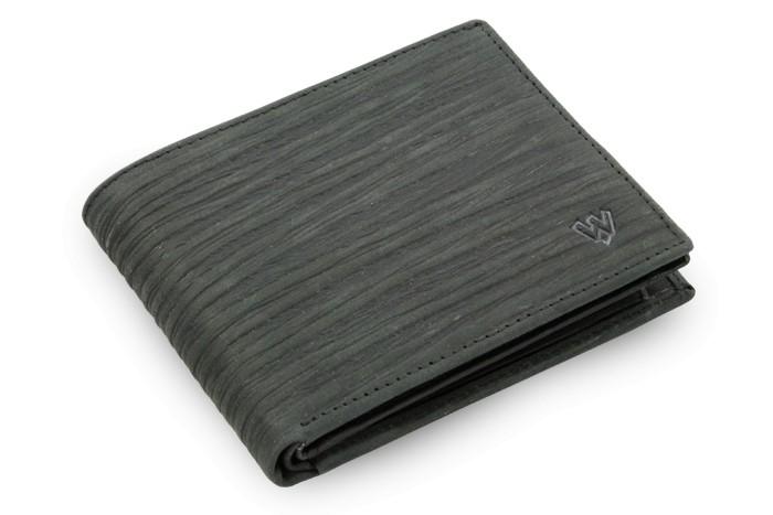 Černá pánská kožená peněženka Seth