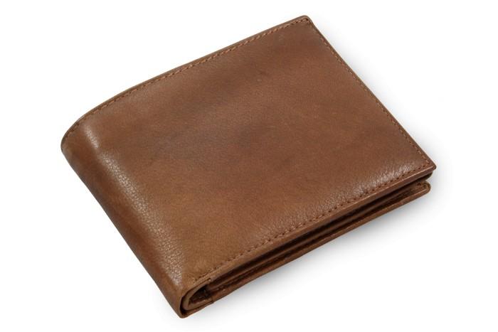 Tmavě hnědá pánská kožená peněženka Malachi