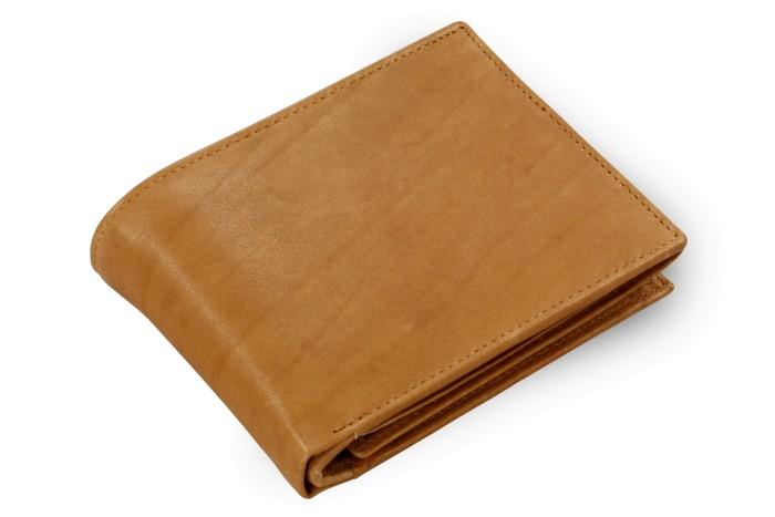 Světle hnědá pánská kožená peněženka Malachi