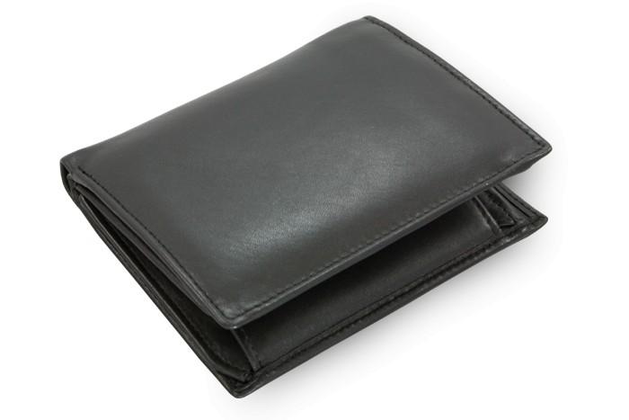 Černá pánská kožená peněženka Roberto