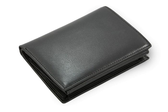 Černá pánská kožená peněženka Evan