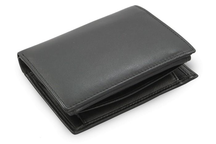 Černá kožená peněženka Danielle