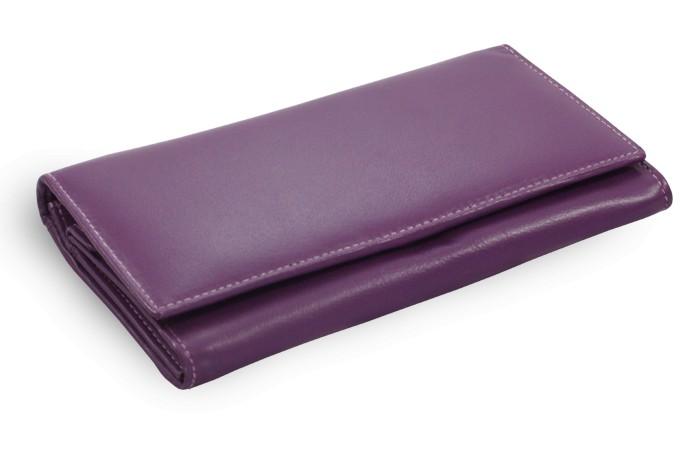Fialová dámská kožená psaníčková peněženka Antonien a28a15c56ac