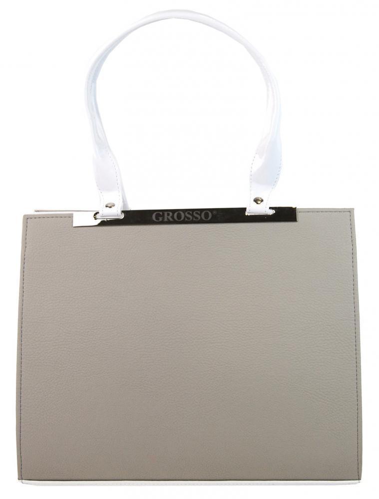 Béžovo-bílá hranatá kabelka na rameno Lana 47829c8a258