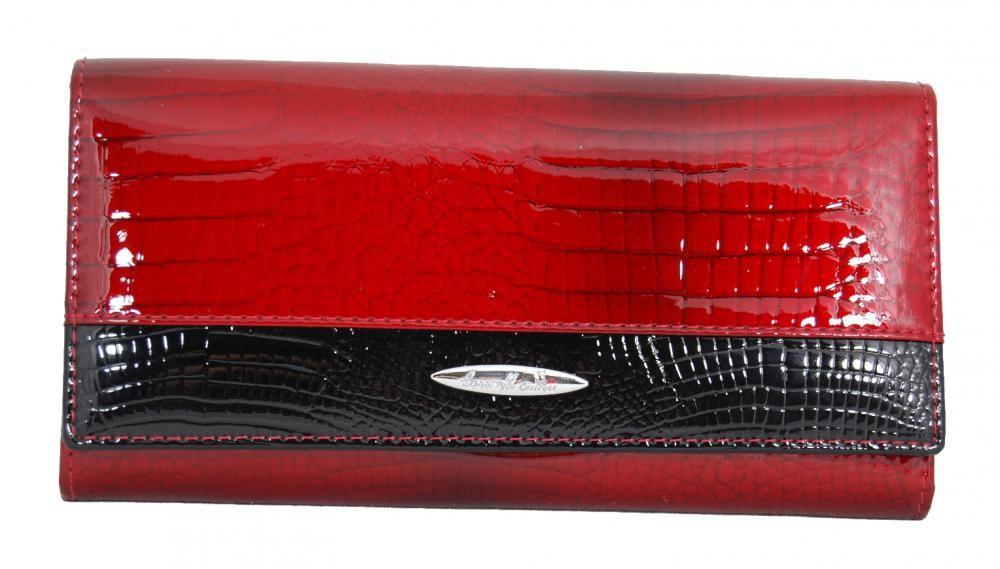 Červená kožená elegantní dámská peněženka Louise