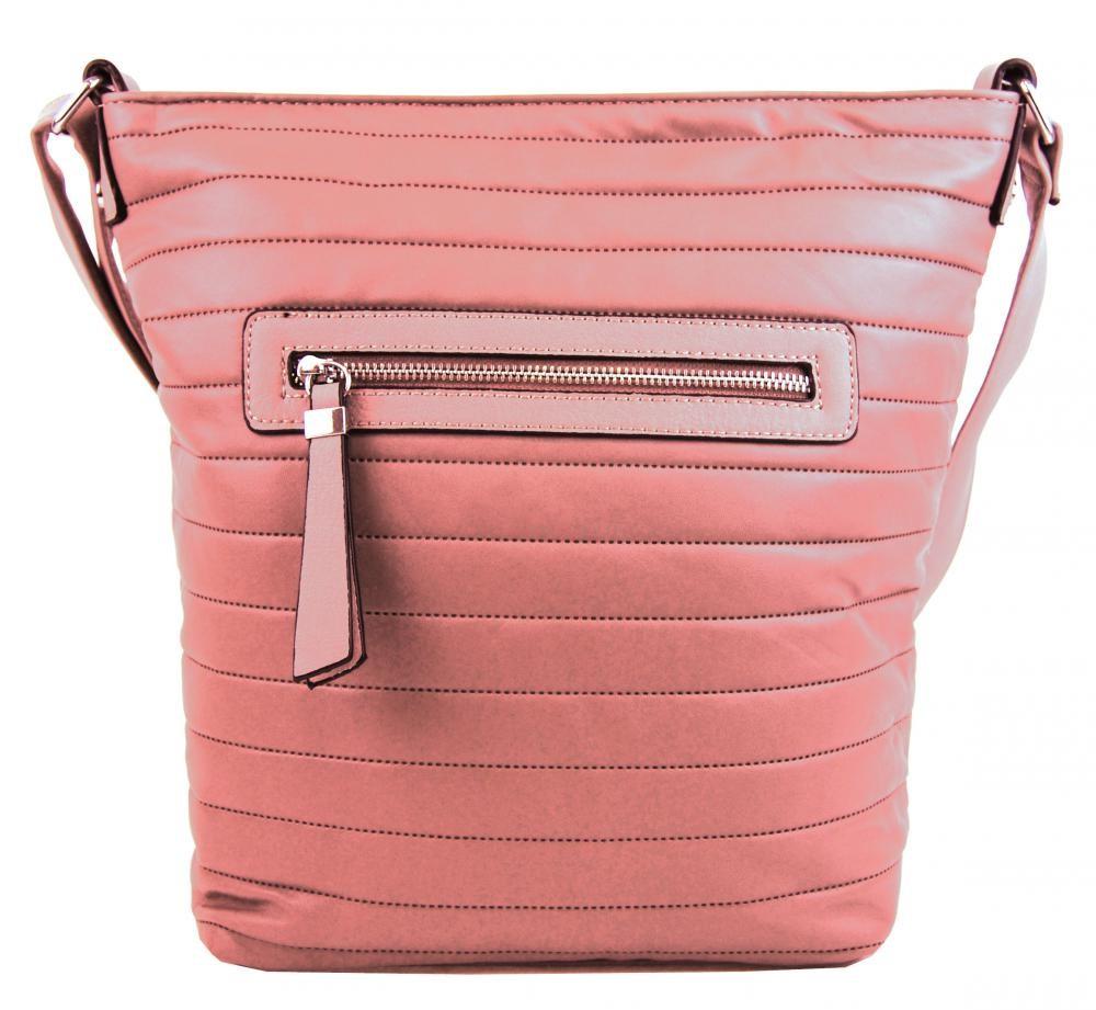 Růžová crossbody kabelka Pamela 376a98c19e