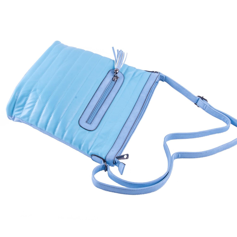 Modrá prošívaná crossbody nevšední kabelka Lolen