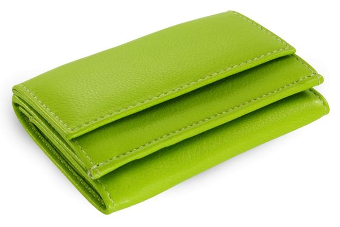Zelená kožená dámská menší peněženka Athena