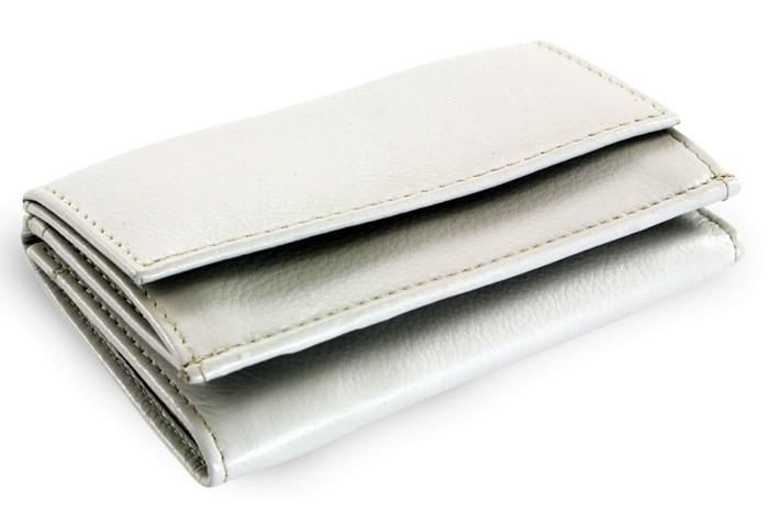 Šedá kožená dámská menší peněženka Athena