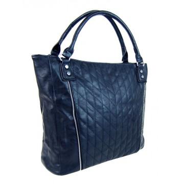 febabf1e09 Modrá moderní velká dámská prošívaná kabelka přes rameno Jentie