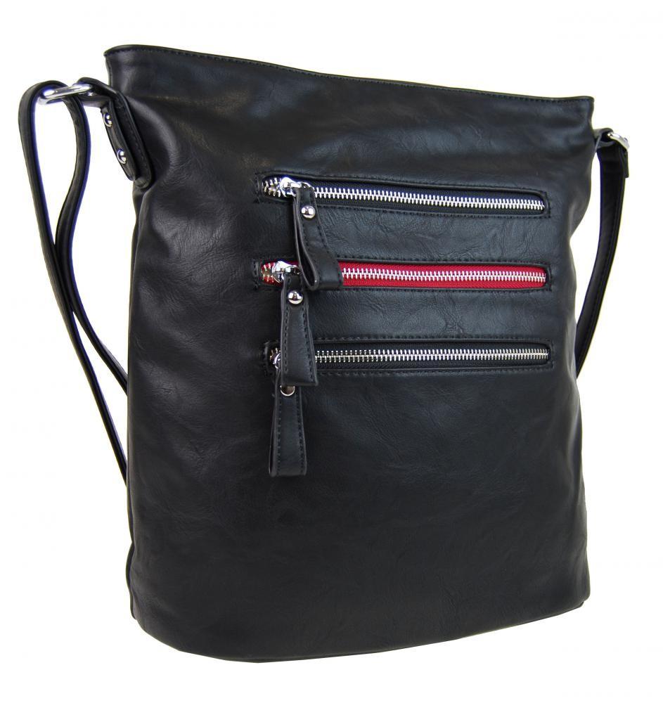 Černá elegantní dámská crossbody kabelka Montie 3edeb456f45