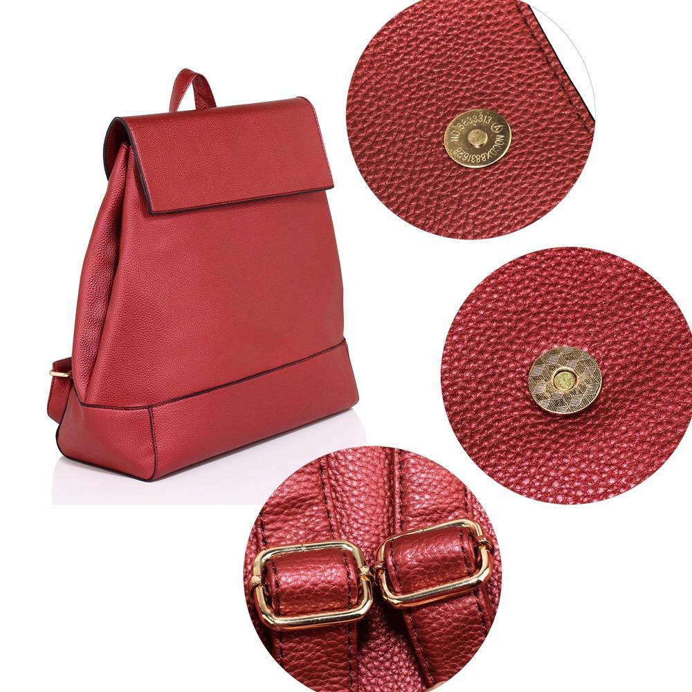 58ccca5ee3 Vínově červený elegantní batoh Minsie