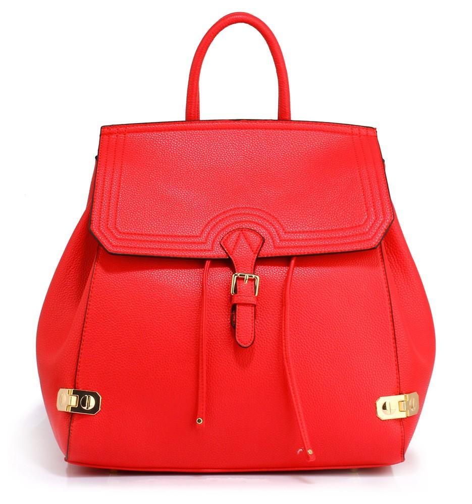 Sytě červený dámský moderní batoh Vanlie