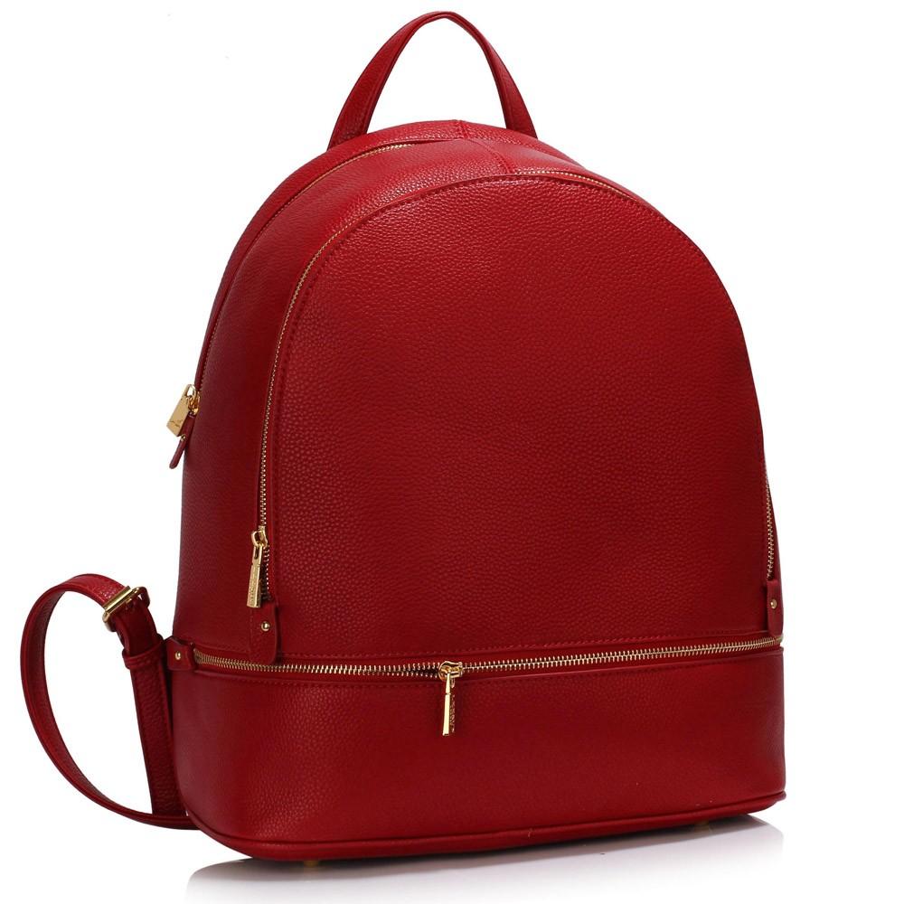 Sytě červený dámský elegantní batoh Noviel
