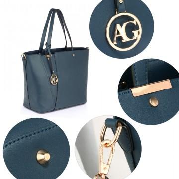 c93b79e119 Modrá moderní dámská kabelka do ruky i přes rameno Rielen