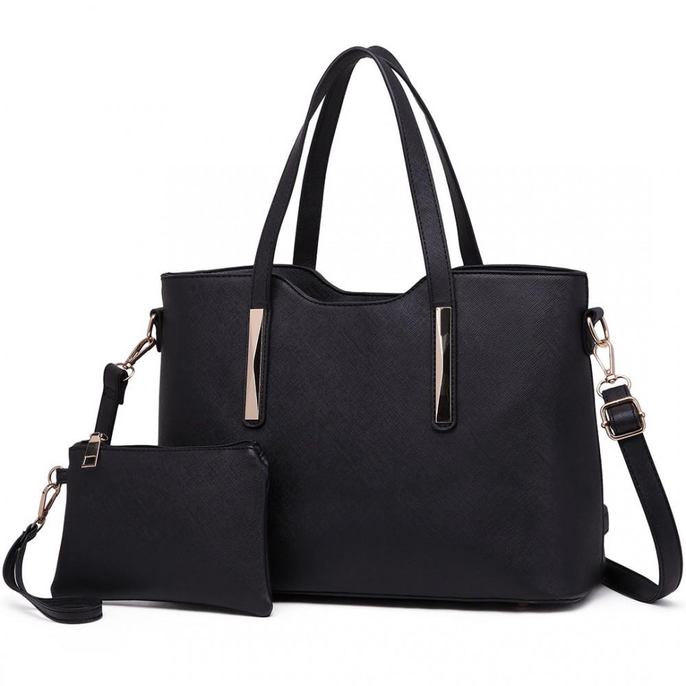 Černý dámský kabelkový set 2v1 Triel