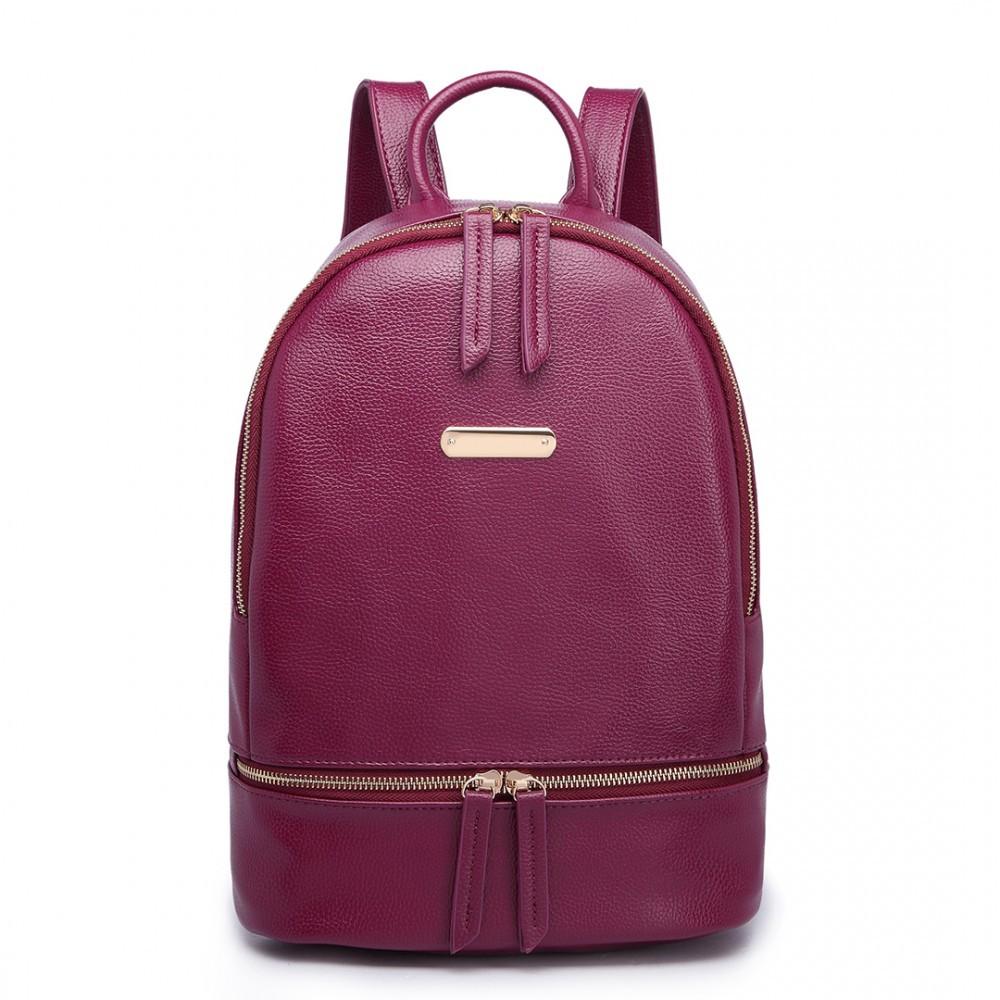 Vínově červený dámský elegantní batoh Fantel
