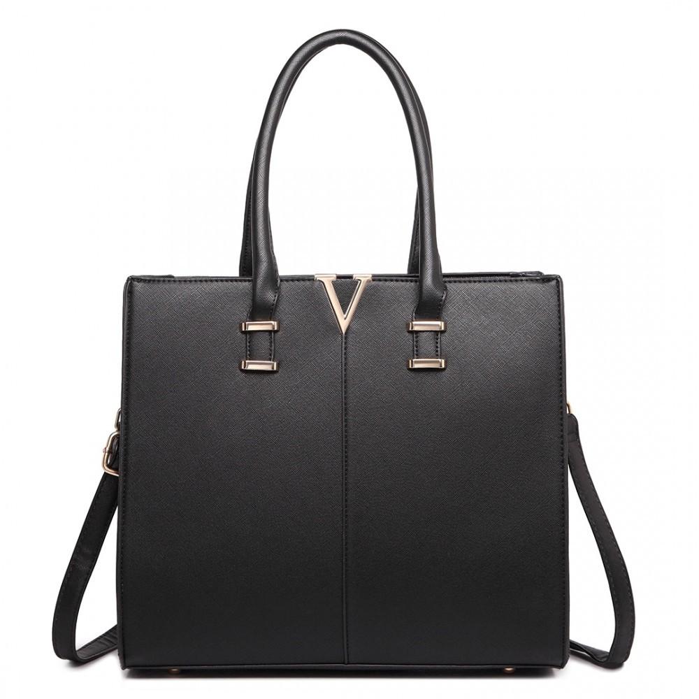 Černá moderní stylová dámská kabelka Zuzien