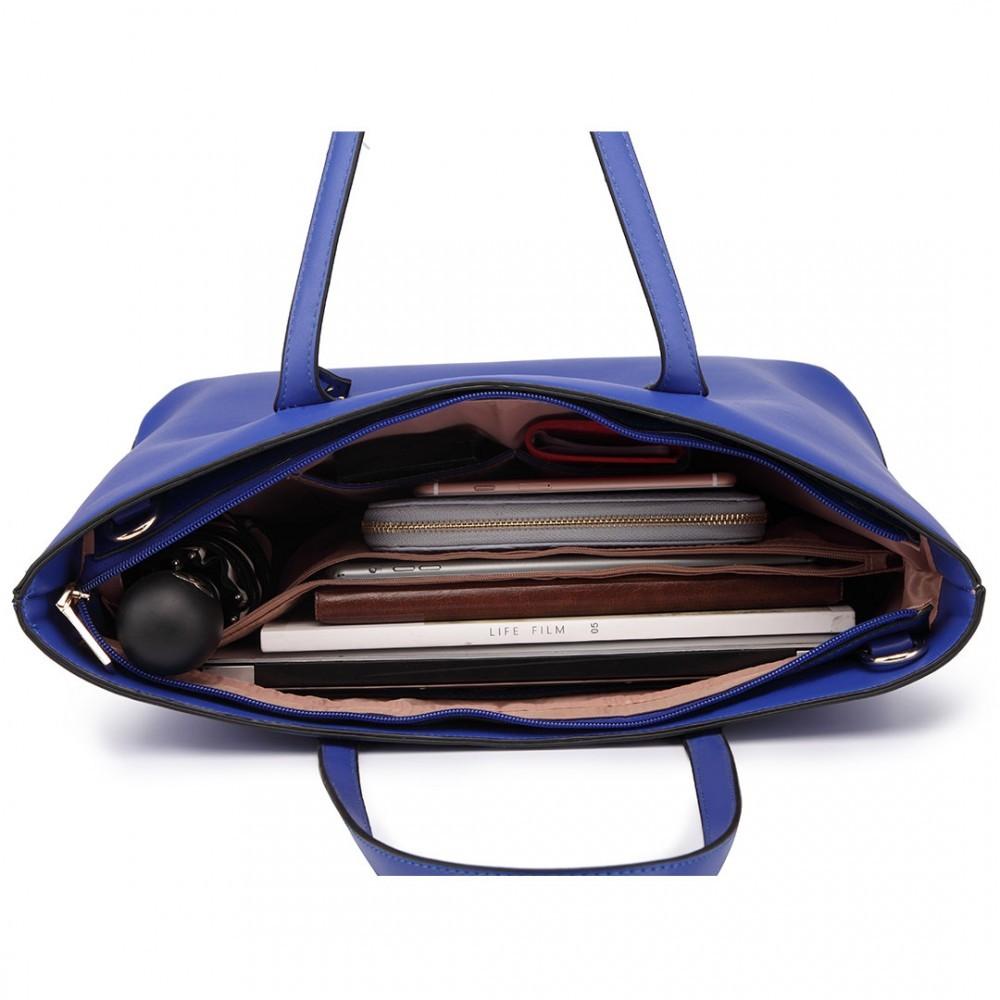 Modrá 3v1 kabelka